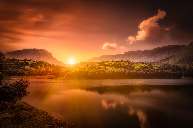 картинку красивый восход солнца на лабе действительно красивых